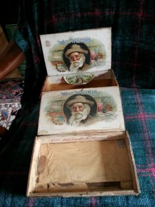Whitman on cigar boxes. Circa 1900.
