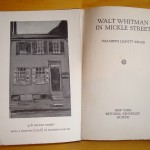 Walt Whitman in Mickle Street (frontispiece)