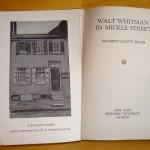 Walt Whitman in Mickle Street (frontispiece)
