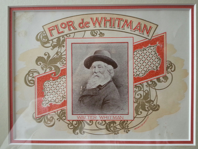 Whitman on cigar label. Circa approx. 1930's. Chicago, IL.