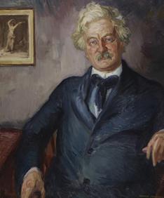 Horace Traubel. Portrait by John Sloan. 1916. Oil on canvas. Pennsylvania Academy of the Fine Arts.