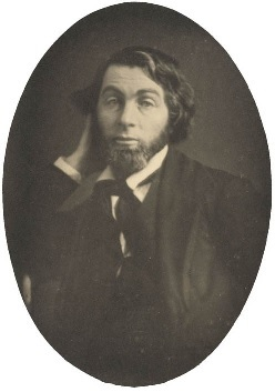 The earliest image of Whitman at age 29 years. This daguerreotype was made in New Orleans, during Whitman's residence there between February and May 1848, while he worked on the New Orleans Crescent.